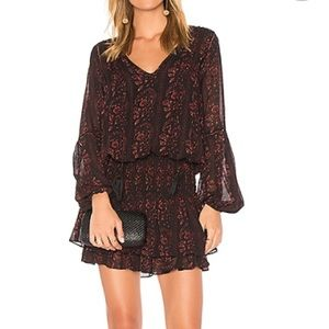 ASTR Stella Black Wine Floral Dress Size XS